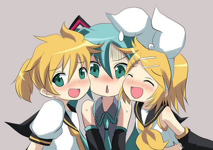 NOPE. my friends, fans, and Vocaloid (especially len) are my family. as far as im concerned, blood ties mean little to nothing to me. my definition of family is people that will always be there for anda no matter what and cant stay mad at anda no matter what and will give anda their honest opinion instead of what anda want them to say when i ask them something. it probably makes no sense but thats just because its a little hard to explain.