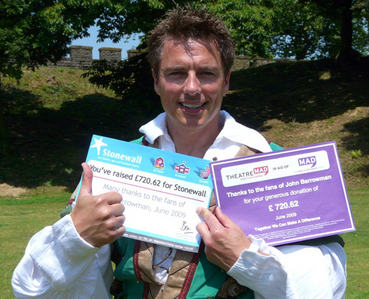 John Barrowman always donates to charitys and gets fan's to try donate instead of buying him gifts :)