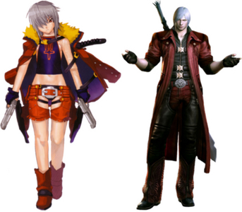 Compare Jo from Burst Angel – Jäger der Finsternis with Dante from Devil May Cry