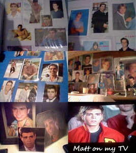 I have lots of Matthews all over my wall, closet, on my night stand and on my TV as well :)