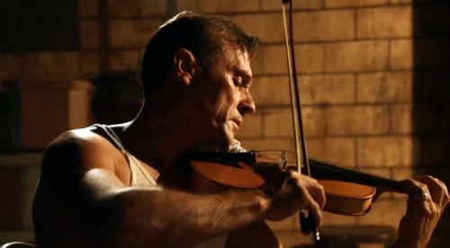 Robert Knepper as Sid Rothman from Mob City. He plays the violin so beautifully. <3