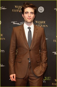 my gorgeous babe at the Berlin premiere for Water for Elephants<3