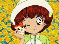 "Hiroko""Laura"" Haruna and her 가장 좋아하는 pet 햄스터 Hamtaro"