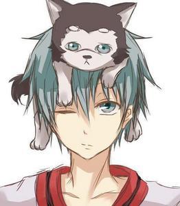 Kuroko and his dog Kuroko Number 2 from Kuroko no Basket!!!