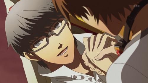 Yu and Yosuke in Persona 4: The Animation
