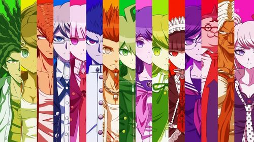 Danganronpa (I reccomend you play the original game too if you haven't)  Puella Magi Madoka Magica (It's probably not like other Magical Girl Anime, this one is tragic)  Kill la Kill (This one kinda have too much fanservice, but still a good Anime)  Sayounara Zetsubou Sensei