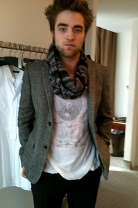 my handsome babe wearing a scarf<3