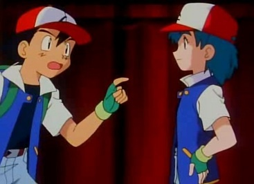Ash and Duplica from Pokemon