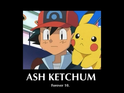 Well... Ash has been ten for over fifteen years now :L Don't think he'll ever get older.