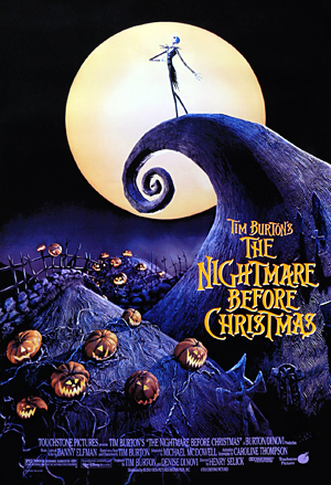 Tim Burtons The Nightmare Before Christmas.