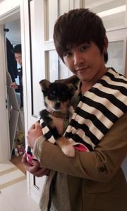 Hoya With Puppy~ [i]How cute is he???!!!! (And I mean Hoya)[/i]