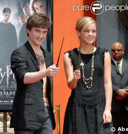 Harry Potter - Order of the Phoenix Daniel Radcliffe with Emma Watson