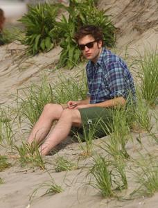 my handsome Robert in green shorts<3