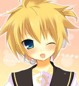 Len! From vocaloid! Yay! He's so cute!