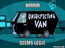 People in vans -_- Just what are they up to, eh...?