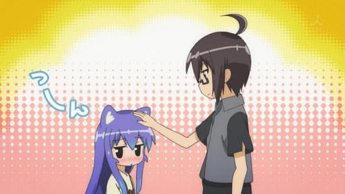 Io patting Tsumiki's head