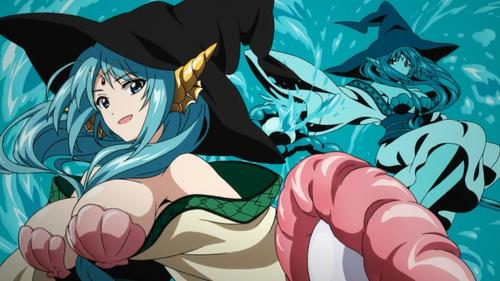 Yamraiha from Magi is a sorceress.