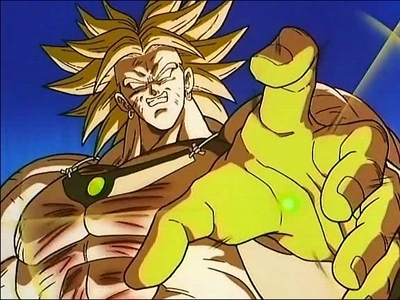 Broly (Dragonball Z) All he loves is destruction he destroy an entire solar system in a flash.........just to kill time.......he he eheh