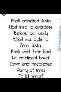 Justin :'( THIS breaks my heart!