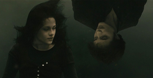 my handsome babe upside down in a scene from New Moon<3