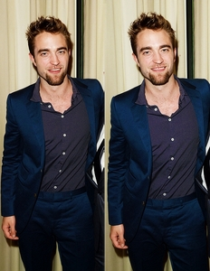my gorgeous babe in a dark blue suit<3