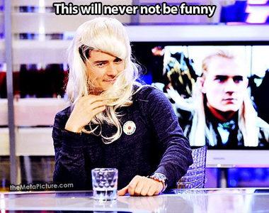 """""""Oh, look at me, I'm Legolas!"""" :D <3"""