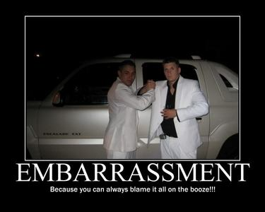 I used to get embarrassed everywhere and all the time. Now, I believe I'm pretty much immune to it :P :D
