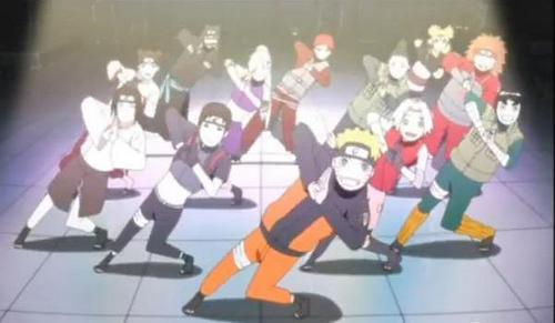 नारूटो & फ्रेंड्स dancing (Naruto Shippuden)
