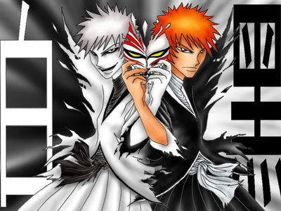 I'm not sure... Ichigo and Hichigo (Bleach)