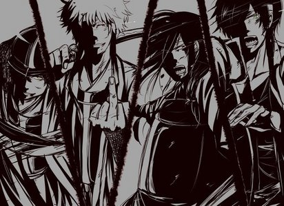 The joui faction from Gintama X3