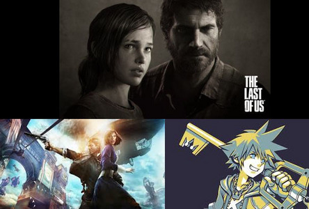 "Joel and Ellie from The Last of Us Booker Dewitt and Elizabeth from Bioshock Infinite Sora from Kingdom Hearts Kind of overlooked the ""One or two characters"" haha."