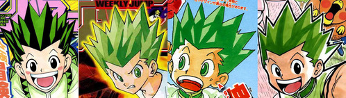 Gon Freecss from Hunter x Hunter. But for some reason it's black with green highlights in the anime.