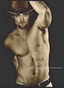 a manip of my sexy British cowboy.Forget the horse,I'd rather ride my sexy British bucking bronco<3