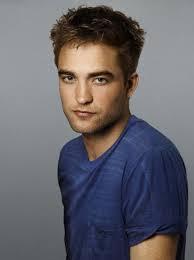 my handsome Robert in a blue t-shirt<3