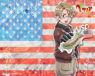 America from hetalia, is obviously American. >.< I <3 America