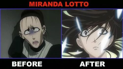 Miranda (D.Grayman) before and after pic.........he hehehe