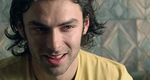 wearing yellow: Aidan Turner