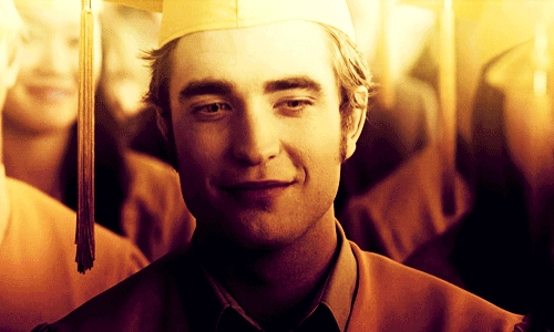 my handsome babe in a yellow graduation topi and robe,from a scene in Eclipse<3