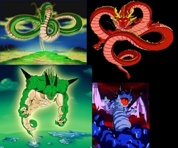 "Ofcourse Ultimate Shenron (Red Shenron) ! Becouse he can Grant any wish like if u wish tht ""Plz Kill Goku"" then 悟空 will be Died ! This kind of can't be Granted 由 Shenron 或者 Pornga ! So tht's why Ultimate Shenron (Red Shenron) is Stronger ;-) !!"
