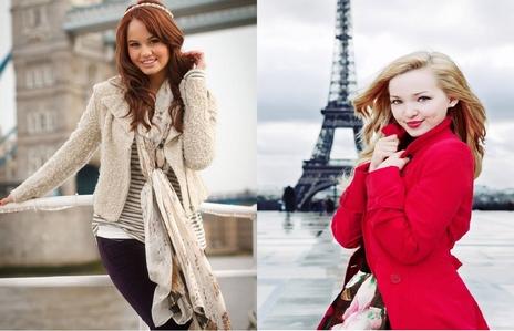 鳩 Cameron and Debby Ryan are my favourite because they are funny and awesome!