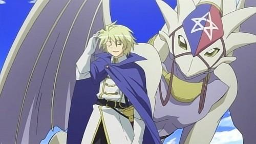 Julio from Zero no Tsukaima with his dragon. (: