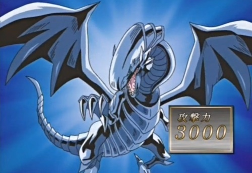The Blue Eyes White Dragon from Yu-Gi-Oh!