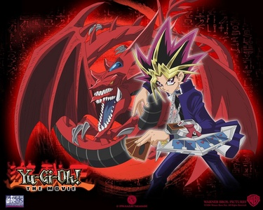 Yami Yugi aka Atem with Slifer the Sky Dragon