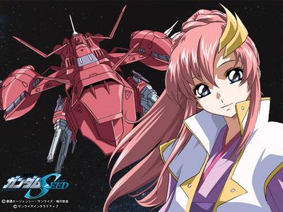 Lacus Clyne from Gundam Seed/Destiny..