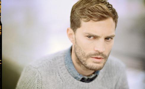 Mr.Christian Grey(aka Jamie Dornan) in a grey sweater<3