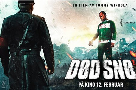 """I went to the 电影院 with four of my 老友记 :) we watched """"Død Snø 2"""" (A Norwegian Zombie Movie)"""