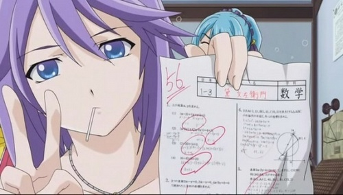 Mizore and Yukari from Rosario + Vampire. For Mizore not very well atau very much. And for Yukari (sorry that I couldn't be able to find a good pic of her) very well and a lot too