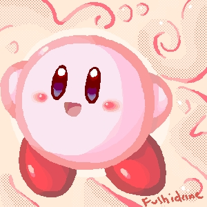 My お気に入り video game character is Kirby! C: It was my first game series and I 愛 the color pink. His games are just pure fun. He's super cute yet badass at the same time!