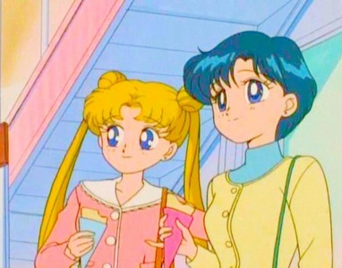 Ami is an excellent student while Usagi always fails her tests. (Sailor Moon)
