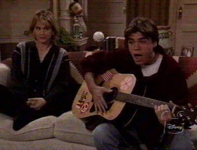 Matt playing a guitar, gitaa :)